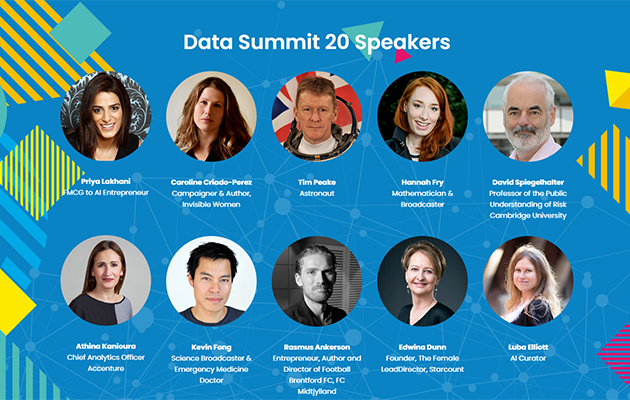 Small circle pictures of Data Summit 20 speakers