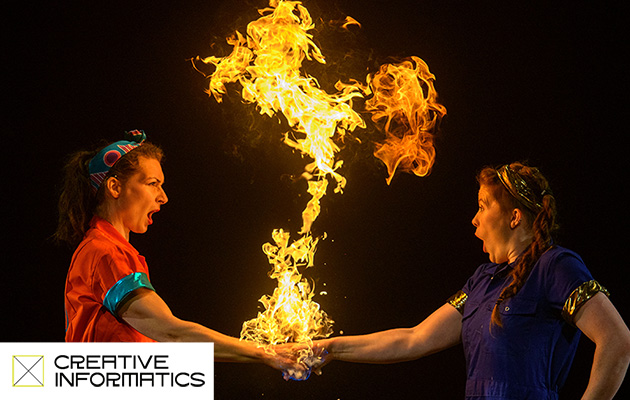 Creative Informatics - performers with fire