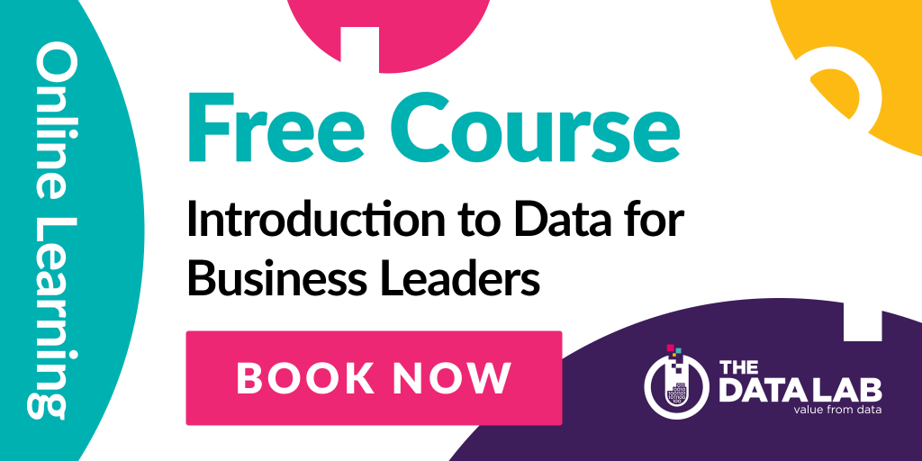 Advert for Introduction to Data for Business Leaders online course
