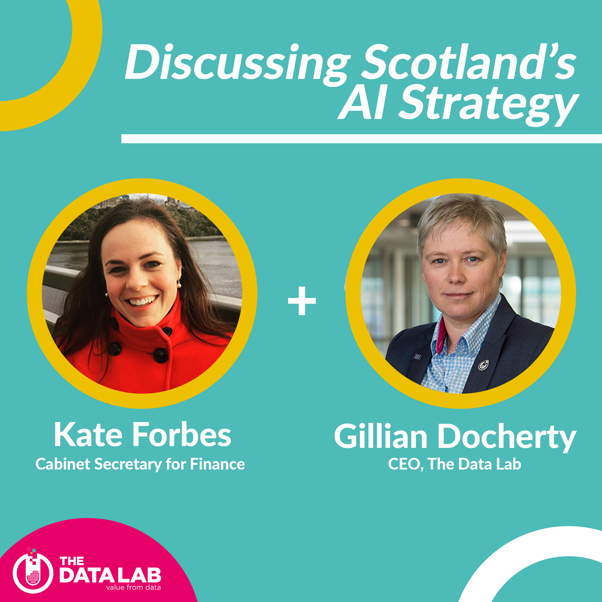 Gillian Docherty and Kate Forbes discussing Scotland's AI Strategy