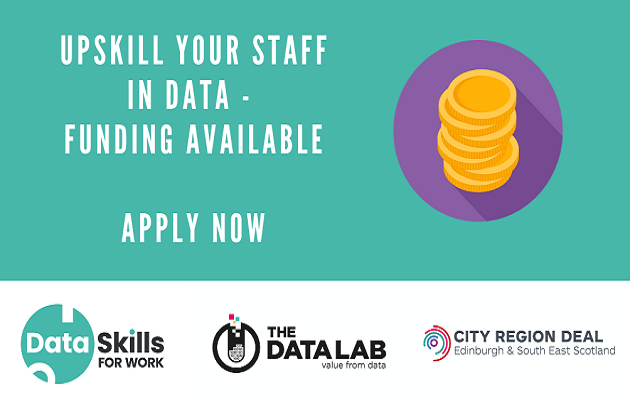 Upskill your staff in data, funding available - apply now