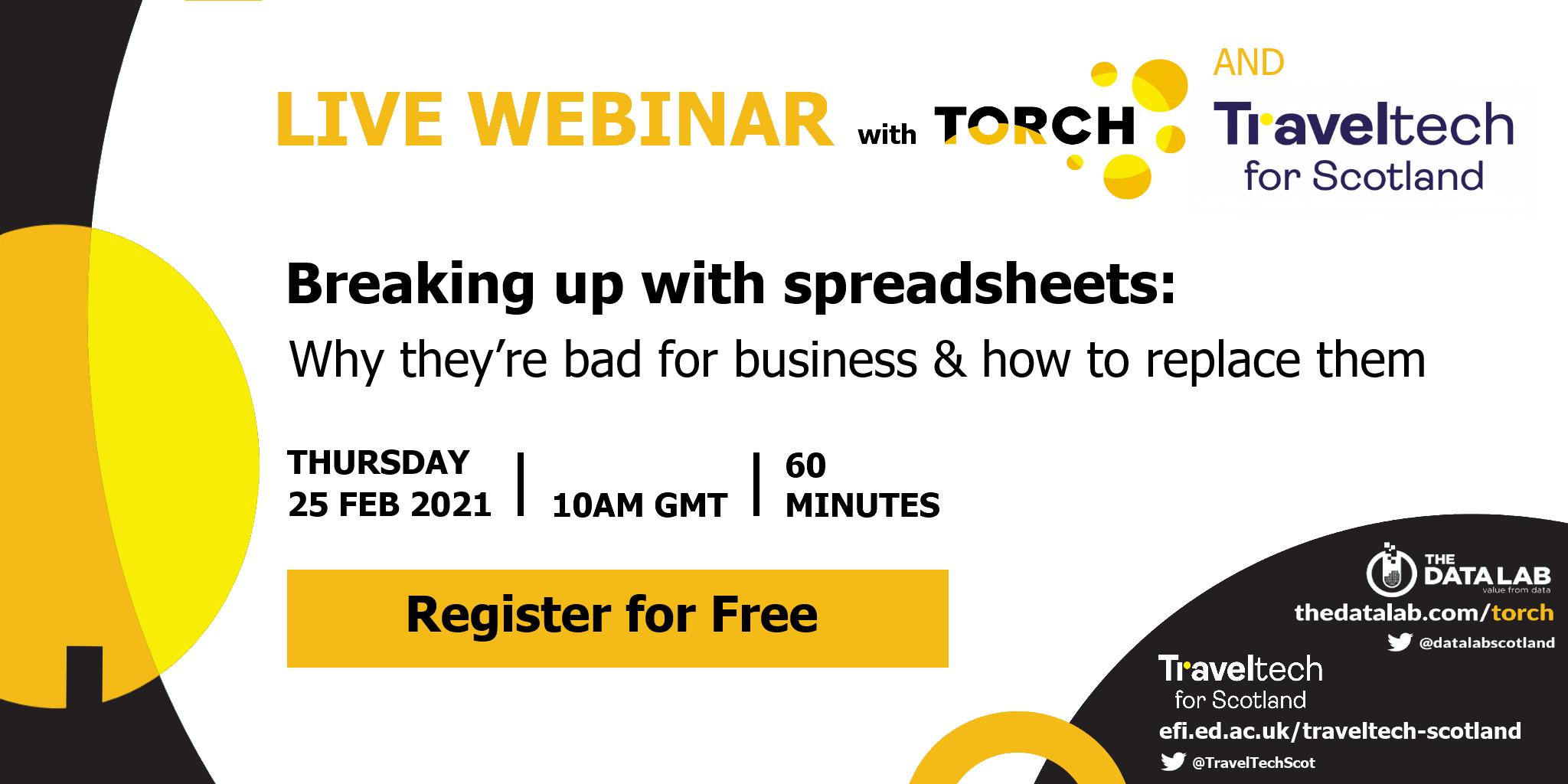 spreadsheets webinar