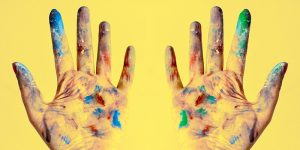 Photo of paint covered hands - Data Science Creativity