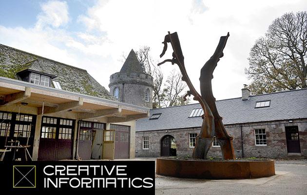 photo of Marchmont house plus Creative Informatics logo